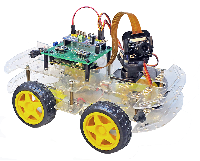 RaspberryPi car with FPV camera control by a smartphone [Out Of the
